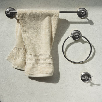 Mottled Towel Ring - Silver