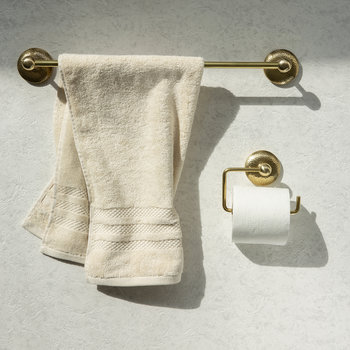 Mottled Toilet Roll Holder - Brass