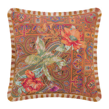 Juzcar Genal Cushion with Trims - 45x45cm - Multicolour