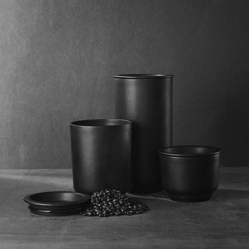 Plateau Storage Jar - Black