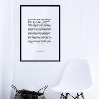 Juicy Lyrics Print