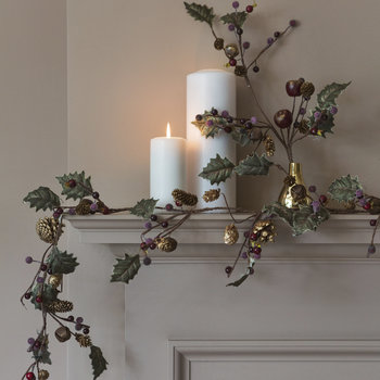 Twig Garland with Mini Cones/Leaves/Bells
