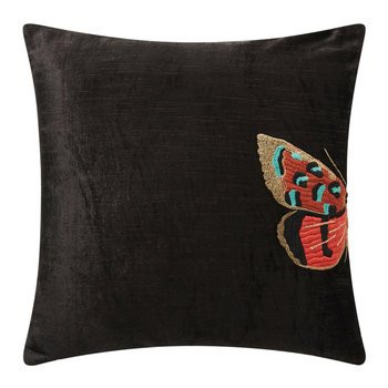 Isadora Pillow - Charcoal Butterfly