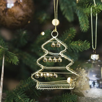 Jingle Tree Decoration - Set of 4