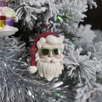 Cool Yule Santa Head Tree Decoration - Set of 3