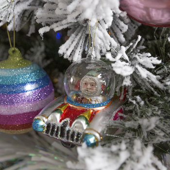 Astronaut in a Spaceship Tree Decoration
