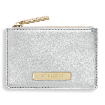 Alise Card Holder - Metallic Silver
