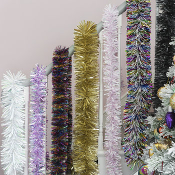 Luxury Chunky Cut Tinsel - White