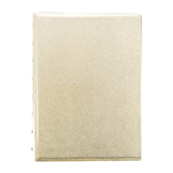 A5 Saffiano Metallic Notebook - Gold