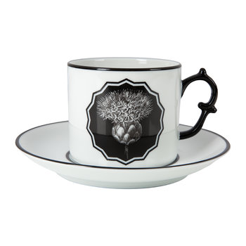 Herbariae Teacup and Saucer - Set of 2 - White