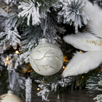 Ice Branch Bauble - Set of 6