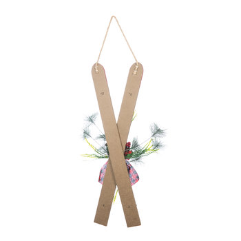 Hanging Crossed Skis Ornament