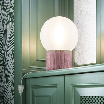 Atmosfera Fringe Table Lamp - Rose