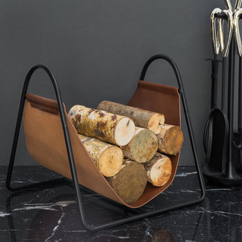 Leather Log Holder