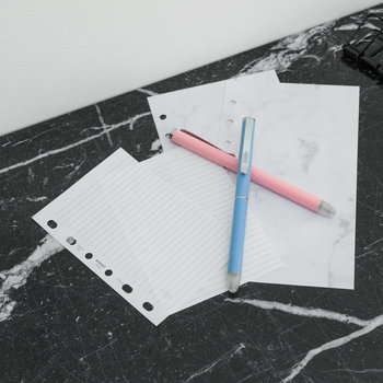 Personal Organiser Refill Paper - Marble