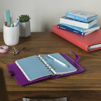 Personal Saffiano Notebook - Rasberry