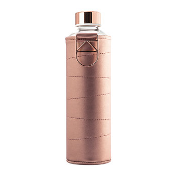 Mismatch Water Bottle with Faux Leather Cover - Bronze