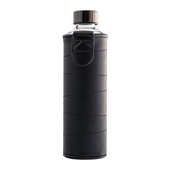 Mismatch Water Bottle with Faux Leather Cover - Graphite