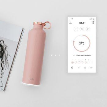Smart Hydration Water Bottle - Pink Blush