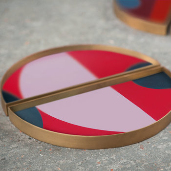 Blush Curve Mini Tray - Half Moon - Set of 2