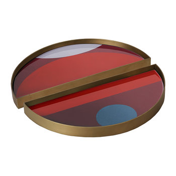Garnet Curve Mini Tray - Half Moon - Set of 2