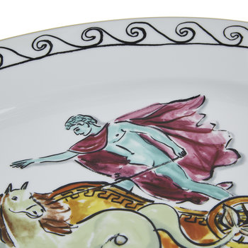 Luke Edward Hall Chariot Oval Platter - White