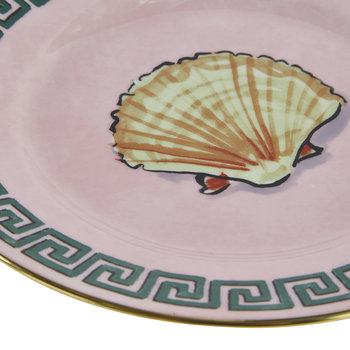 Luke Edward Hall Shell Bread Plate - Pink