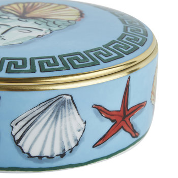 Luke Edward Hall Shell Crown Round Trinket Box - Sea Blue