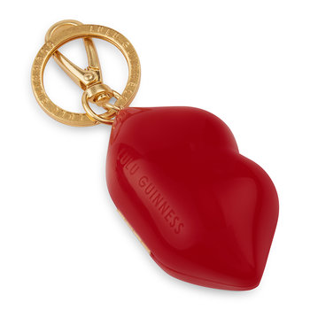 Mini Lip Keyring - Red