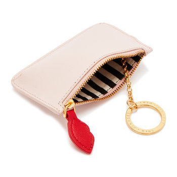 Pop Out Lip Frankie Key Pouch - Blush