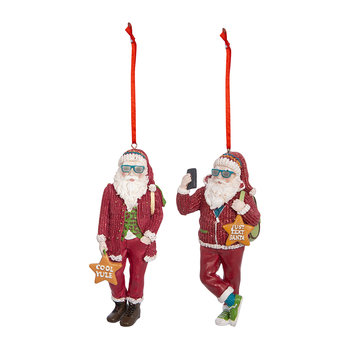 Cool Yule Santa Tree Decoration - Set of 2