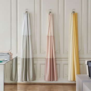 Aquarelle Shower Curtain with Horizontal Stripes - Eucalyptus