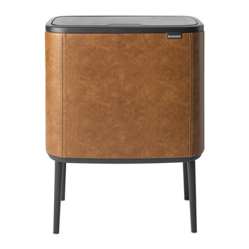 Dutch Deluxe Limited Edition Bo Touch Bin - 34 Litre - Cognac Vegan Leather