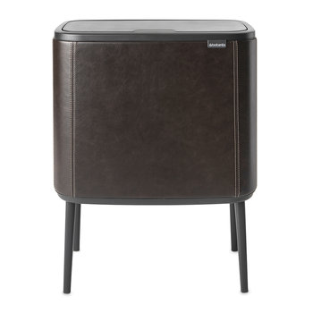 Dutch Deluxe Limited Edition Bo Touch Bin - 34 Litre - Espresso Vegan Leather