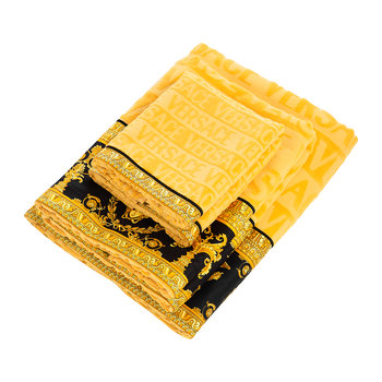 Barocco&Robe Bath Towels - Set of 5 - Gold