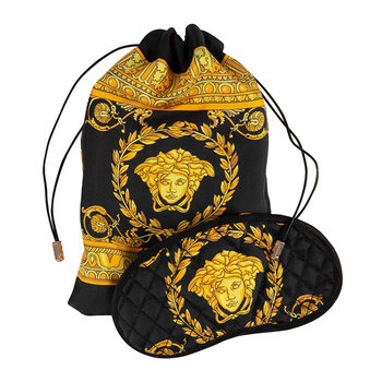 Barocco Fabric Night Mask - Black/Gold