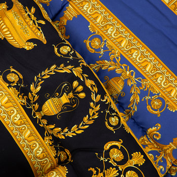 Barocco&Robe Reversible Bedspread - Black/Gold/Blue