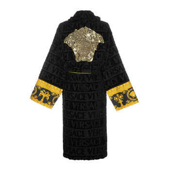 LogoMania Bathrobe - Black/Gold/Bronze