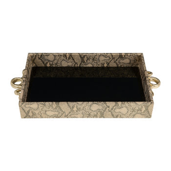 Tray With Snake Handles - Gold