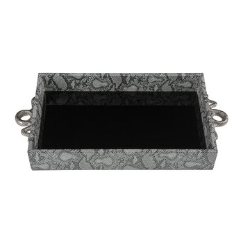 Tray With Snake Handles - Silver