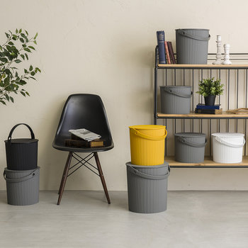 Omnioutil Storage Bucket with Lid - Grey