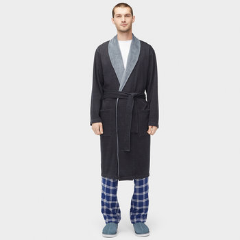 Men's Robinson Dressing Gown - Black Heather