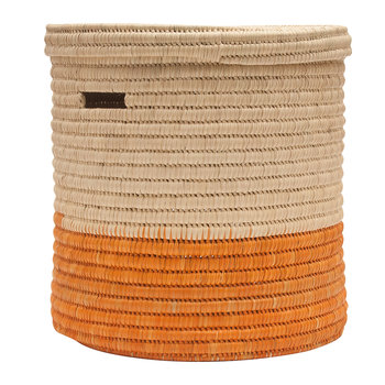 Wapi Lidded Colourblock Laundry Basket - Orange