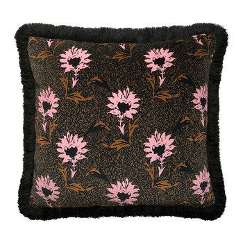 Flora Pillow - Black/Pink