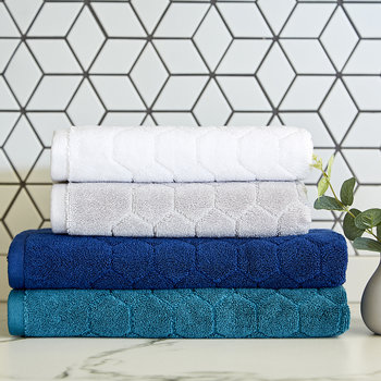 Honeycomb Towel - White