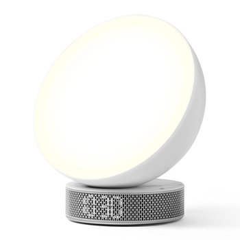 Miami Sunrise Light Therapy Alarm Clock - White Marble
