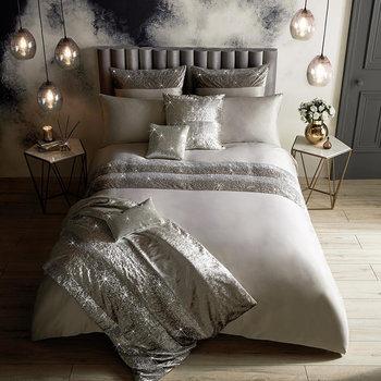 Skyla Quilt Cover - Silver