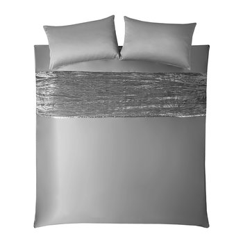 Zander Quilt Cover - Silver