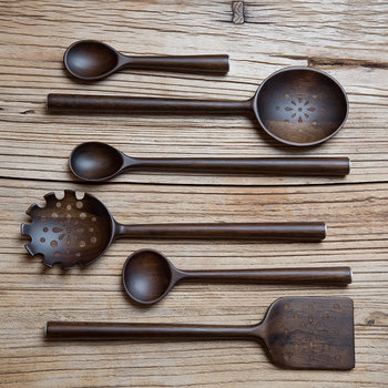 Acacia Wood Serving Spoon - Set of 3