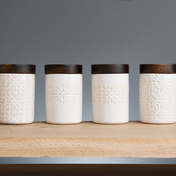 Mini Pattered Storage Jars - Set of 4